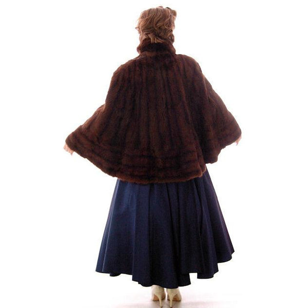 Vintage  Dark Brown Muskrat Fur Convertible  Stole 1940s One Size Fit - The Best Vintage Clothing  - 4