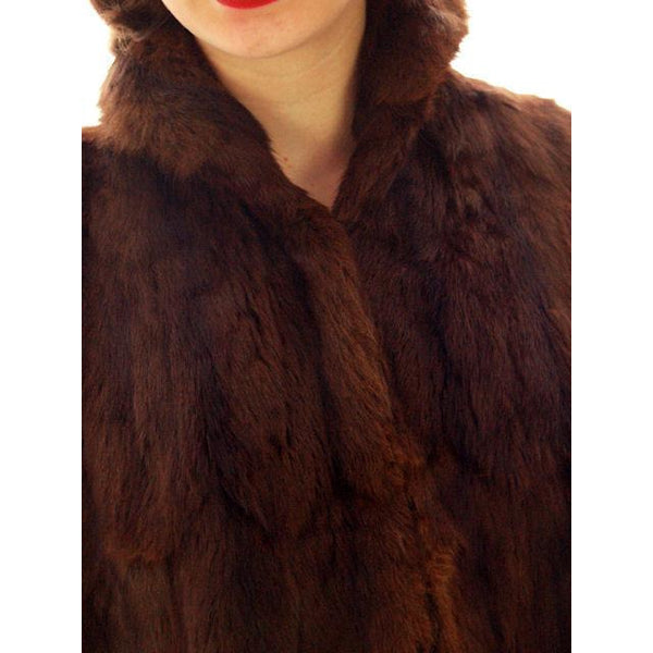 Vintage  Dark Brown Muskrat Fur Convertible  Stole 1940s One Size Fit - The Best Vintage Clothing  - 6