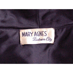 "Vintage Black Satin Short Evening Jacket Mary Agnes 1950 41"" Bust Small - The Best Vintage Clothing  - 5"