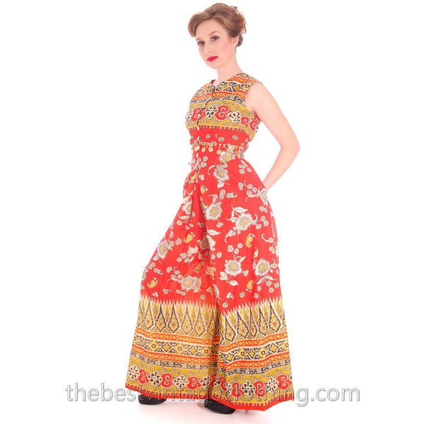 Vintage Gypsy Belly Dance Outfit Palazzo Pants + Coin Embellished Midi Top S 1960s - The Best Vintage Clothing  - 1
