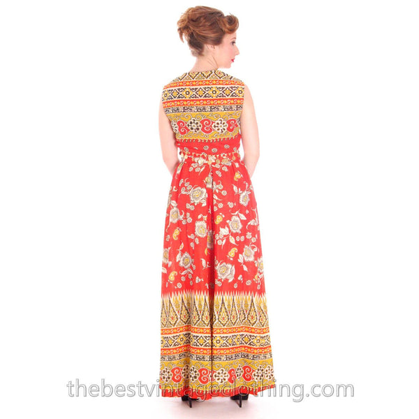 Vintage Gypsy Belly Dance Outfit Palazzo Pants + Coin Embellished Midi Top S 1960s - The Best Vintage Clothing  - 6