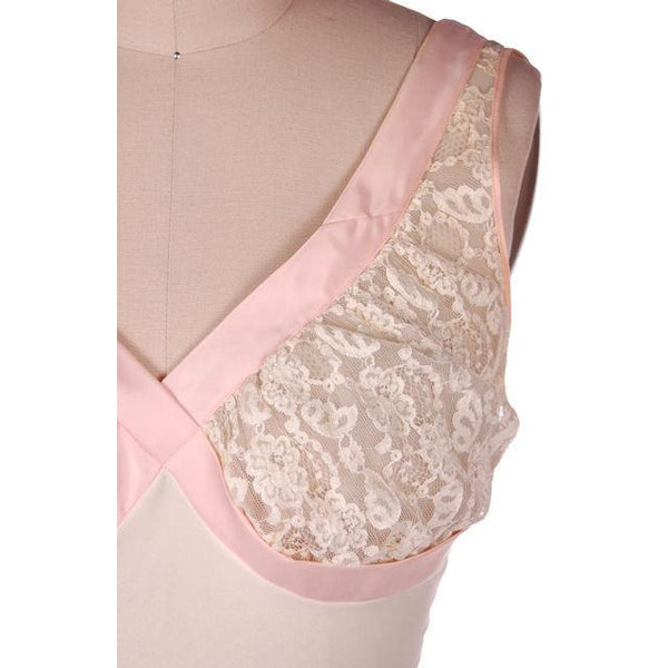 Vintage Sheer & Lace 2PC Peignoir Pink 1950s Classic Eye-Ful Label Small 34 - The Best Vintage Clothing  - 5