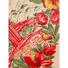 Vintage Hawaii Tablecloth Red Hibiscus Flowers The Pierio 26 x 32 - The Best Vintage Clothing  - 3