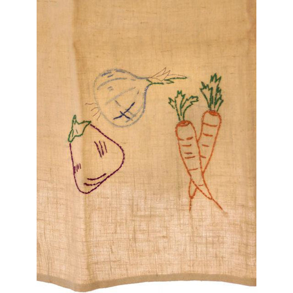 Vintage Kitchen Linen Dish Towel Never Used 1940s Embroidered - The Best Vintage Clothing  - 2