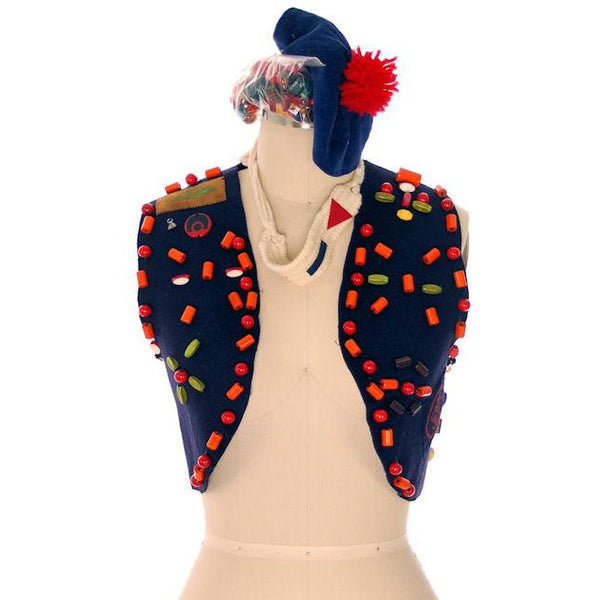 Vintage Campfire Girls Vest W Loads Of Beads Extra Beads