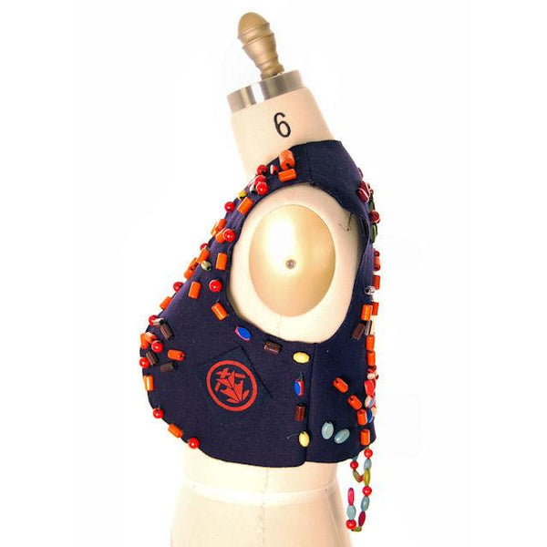 Vintage Campfire Girls Vest w/ Loads of Beads, Extra Beads & Cap 1960s - The Best Vintage Clothing  - 2
