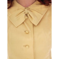 Vintage Gold Rayon Blouse 1950s Vio Vaneto Couture Boutique - The Best Vintage Clothing  - 5