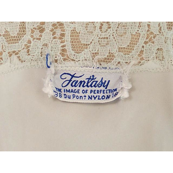 Vintage Nightgown Mint Green Nylon Satin Fantasy Label 36L 1940s - The Best Vintage Clothing  - 7