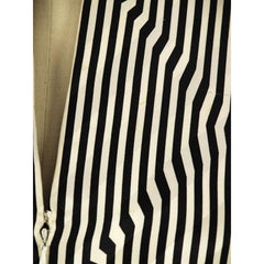Vintage Pauline Trigere Silk Tunic Black & White Stripes/OpArt 1970s 40-33-43 - The Best Vintage Clothing  - 5