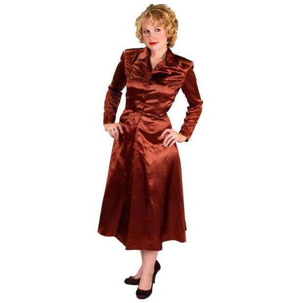 Vintage 1940s Suit Copper Satin A Line Skirt Womens  S  36-24-44 - The Best Vintage Clothing  - 1