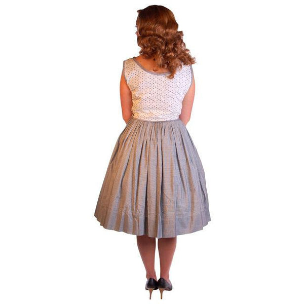 Vintage Black & White Eyelet Day Dress 1950S 38-28-Free - The Best Vintage Clothing  - 5