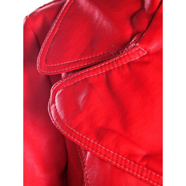 Vintage Red Dynahide Short Trench Coat 1970S Siz 12-14 - The Best Vintage Clothing  - 7