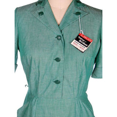 Vintage Green Cotton  Girl Scout Master Dress NOS 1950s 42-31-46 - The Best Vintage Clothing  - 4