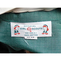 Vintage Green Cotton  Girl Scout Master Dress NOS 1950s 42-31-46 - The Best Vintage Clothing  - 6