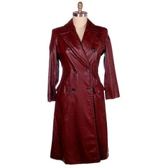 Vintage Etienne Aigner Leather Trench Coat 1970s Size 38 Bust Sz 14 - The Best Vintage Clothing  - 1