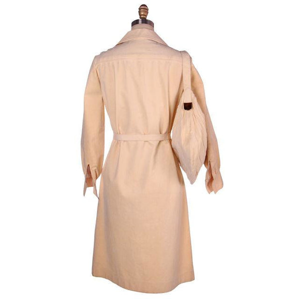 Vintage UltraSuede Coat Dress & Matching Purse Vera Maxwell 1970s 38-36-38 - The Best Vintage Clothing  - 3