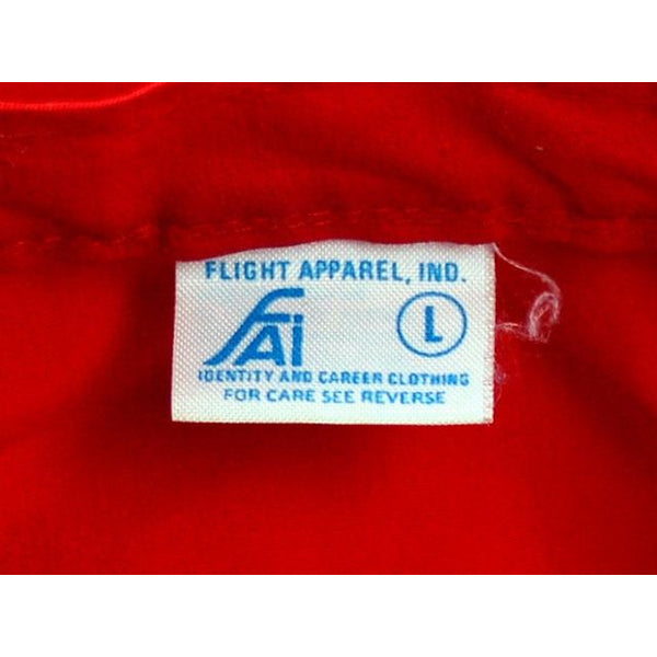 VIntage Mens Jacket Red Cotton Aircraft/Pilots Association Patch 1960s Large - The Best Vintage Clothing  - 3