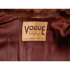 Vintage Swing Coat Muskrat Fur Extreme 1940s Big Shoulders Vogue Shop M - The Best Vintage Clothing  - 5