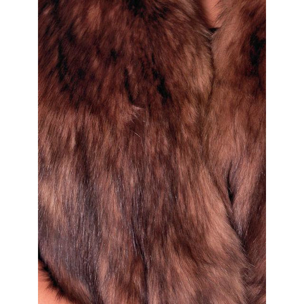 "Vintage Stole 70"" Long Dark Brown Badger Fur  Mendessolle 30S Cats Pajamas - The Best Vintage Clothing  - 4"
