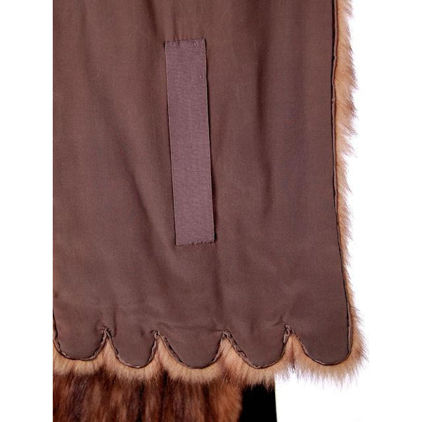 "Vintage Stole 70"" Long Dark Brown Badger Fur  Mendessolle 30S Cats Pajamas - The Best Vintage Clothing  - 3"