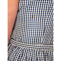 Vintage Day Dress Navy Gingham & Linen Jacket 1950s 41-30-Free - The Best Vintage Clothing  - 9
