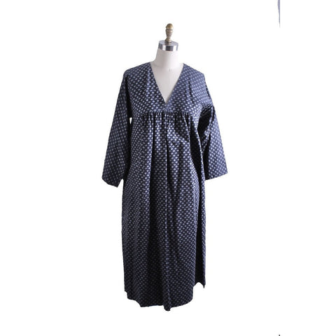 Vintage Marimekko Dress 1968 RARE Womens M Shift Dress Blue Gray Mini Print