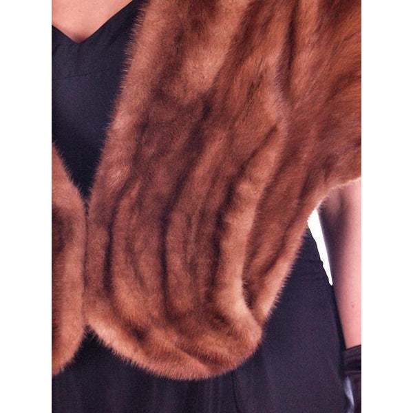 Vintage Stole Short Whiskey Colored Mink Stole Silk Lined 1950S - The Best Vintage Clothing  - 6