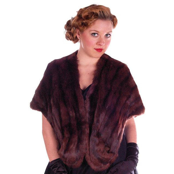 Vintage Fur  Stole Beautiful Brown Squirrel Valles Furs 1950S Glamour - The Best Vintage Clothing  - 2