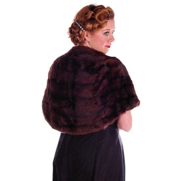 Vintage Fur  Stole Beautiful Brown Squirrel Valles Furs 1950S Glamour - The Best Vintage Clothing  - 1
