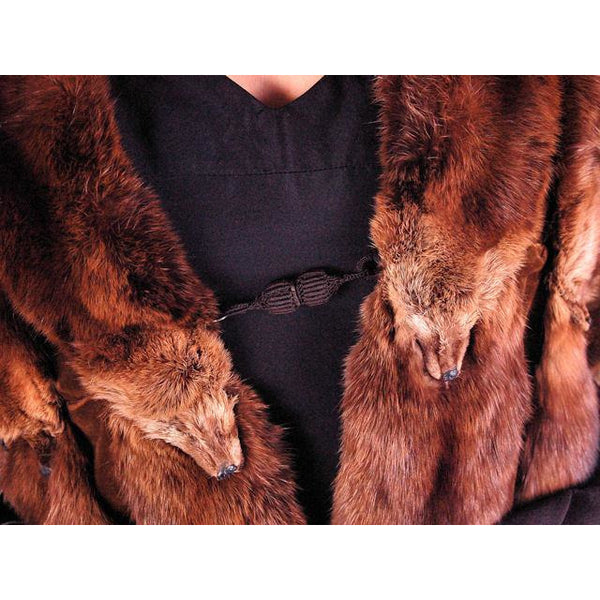 Vintage Fur Stole  Natural Ranch Mink Movie Star Quality 1950S Dark Brown 14 Skin - The Best Vintage Clothing  - 4