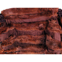 Vintage Fur Stole  Natural Ranch Mink Movie Star Quality 1950S Dark Brown 14 Skin - The Best Vintage Clothing  - 3