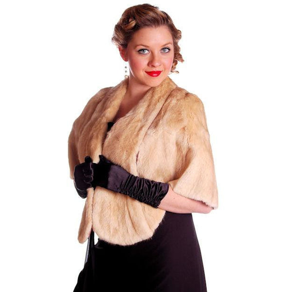 Vintage Stole Blonde Muskrat Fur Vogue Inc 1950s Beauty & Unusual Color One Size - The Best Vintage Clothing  - 8