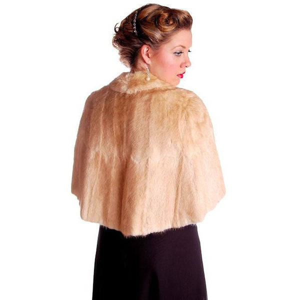 Vintage Stole Blonde Muskrat Fur Vogue Inc 1950s Beauty & Unusual Color One Size - The Best Vintage Clothing  - 7
