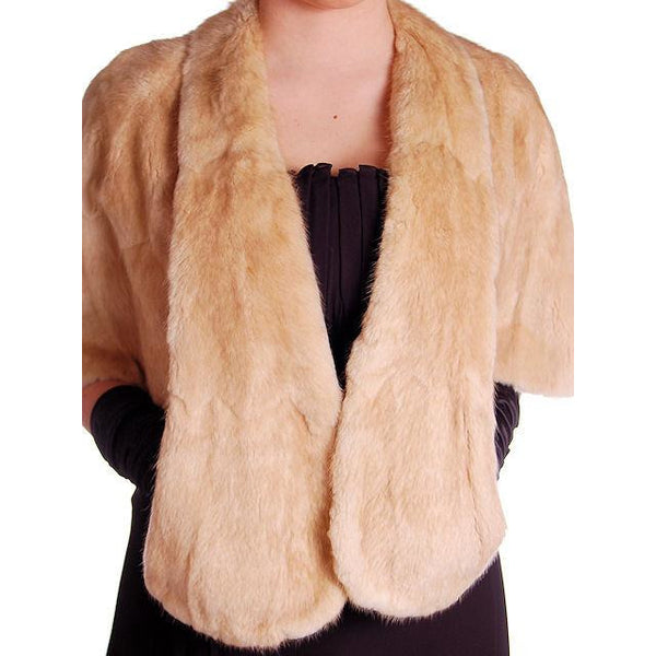 Vintage Stole Blonde Muskrat Fur Vogue Inc 1950s Beauty & Unusual Color One Size - The Best Vintage Clothing  - 6