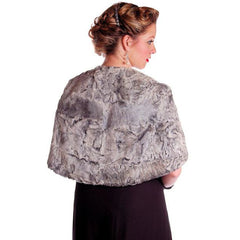 Vintage Stole  Silver Shearling Fur Stole James J Ferrucci - The Best Vintage Clothing  - 1