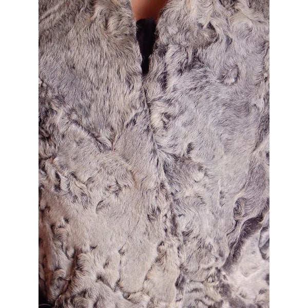 Vintage Stole  Silver Shearling Fur Stole James J Ferrucci - The Best Vintage Clothing  - 3