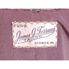 Vintage Stole  Silver Shearling Fur Stole James J Ferrucci - The Best Vintage Clothing  - 4