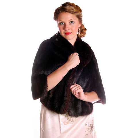 Vintage Fur Luxurious Darkest Brown Mink Stole Movie Star 1950s - The Best Vintage Clothing  - 1
