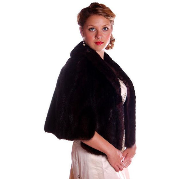 Vintage Fur Luxurious Darkest Brown Mink Stole Movie Star 1950s - The Best Vintage Clothing  - 2