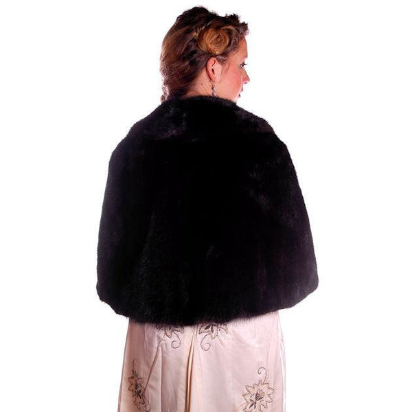 Vintage Fur Luxurious Darkest Brown Mink Stole Movie Star 1950s - The Best Vintage Clothing  - 3