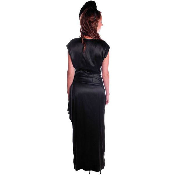 Vintage Black Silk Satin Evening Gown 1930s Size 38-27-38 - The Best Vintage Clothing  - 2