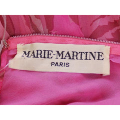 Vintage French Evening Gown Designer Marie-Martine Silk/ Feathers Paris 1950s 36 Bust - The Best Vintage Clothing  - 8