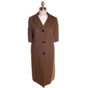 Vintage Laird-Knox  Coat & Dress 1960s White/Olive NOS 37-35-39 - The Best Vintage Clothing  - 1