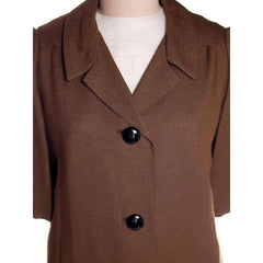 Vintage Laird-Knox  Coat & Dress 1960s White/Olive NOS 37-35-39 - The Best Vintage Clothing  - 8
