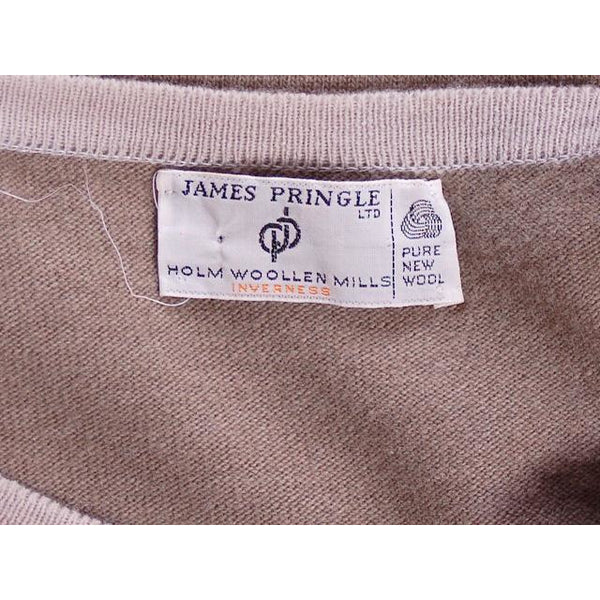 Vintage Pringle Taupe Cashmere Patterned Sweater Vest  Eu 38/97 1950s - The Best Vintage Clothing  - 4