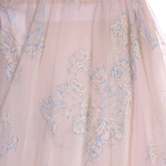 Vintage 2Pc Nylon  Chiffon Printed Peignoir 1950S Trillium Size M - The Best Vintage Clothing  - 10