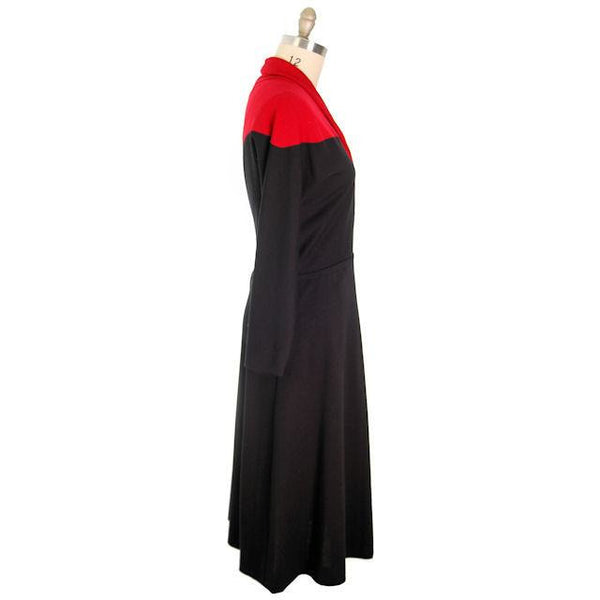 Vintage Halston Wrap Color Block Knit Dress For Design 1980s - The Best Vintage Clothing  - 2