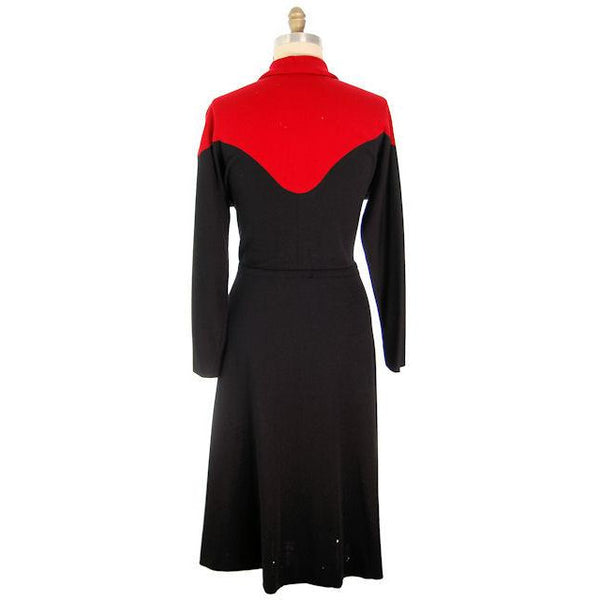 Vintage Halston Wrap Color Block Knit Dress For Design 1980s - The Best Vintage Clothing  - 3