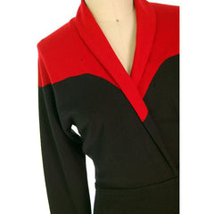 Vintage Halston Wrap Color Block Knit Dress For Design 1980s - The Best Vintage Clothing  - 5