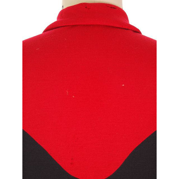 Vintage Halston Wrap Color Block Knit Dress For Design 1980s - The Best Vintage Clothing  - 4